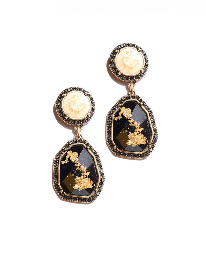 golden dust statement mine earrings
